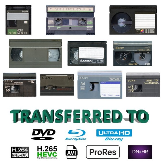Video transfer to Disc or Digital Files