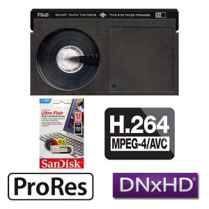 Betamax Transfer, MP4, Mpeg 4, h.264, Apple Pro-Res, Avid Dnx, DVD, Blu-Ray